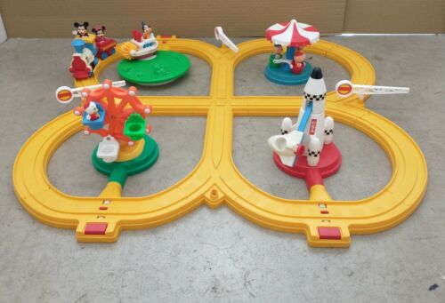 1986 Disneyland Playmates Playset Disney Train Set Figures Rides Engine Vintage
