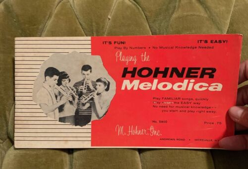 VINTAGE HOHNER MELODICA INSTRUCTION SONGS BOOKLET EPHEMERA