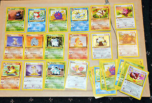 Collection of 30 1999 1st edition Pokemon cards