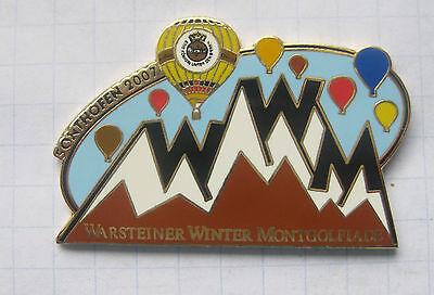 WARSTEINER WINTERMONTGOLFIADE SONTHOFEN 2007  ... Bier-Ballon-Pin (115h)