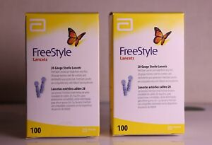 200 Freestyle  Abbott Lancets  INSTANT SHIPPING  2 Boxes 100 each - exp 2020