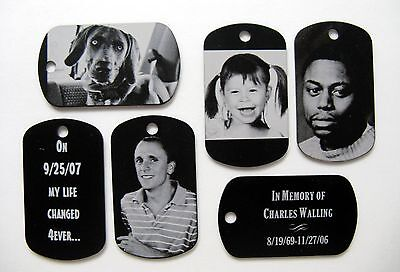 Photo Dog Tag Necklace/Keychain/Pendant - Free Custom Engraving your Photograph - Dog Tag Keychain