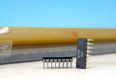 5x Vintage Dso Cm6880p Mc6880ap Quad Three-state Bus Transceiver Ic