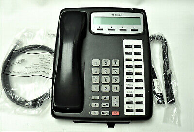Toshiba Ipt1020-sd Phone 20 Button Voip Charcoal Black Warranty