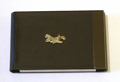 Camo Lancaster Black Pu And Metal Business Credit Card Holder Royal Air Force 56
