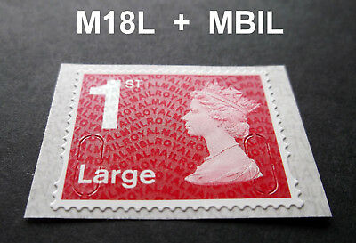 NEW JUNE 2018 1st LARGE M18L + MBIL Code Machin SINGLE STAMP from Business Sheet