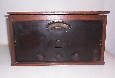 Antiguo Radio Wohl Hecho a Mano RFT Tele Valvo Vintage Decoración Madera segunda mano  Embacar hacia Mexico