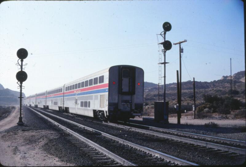1980 Amtrak Superliner Coach Car - Original 35mm Railroad Slide