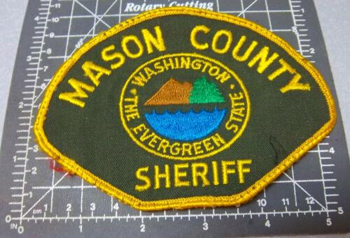 Washington Embroidered Patch, Mason County Sheriff Souvenir shoulder Patch