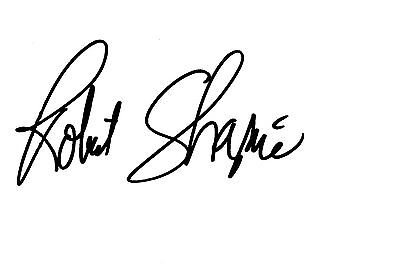 Robert Shapiro Signed Autographed 4X6 Note Card