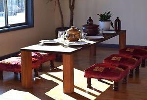 Unique Designer Bohemian-Style Dining Table Hardwood - Full Suite Sydney City Inner Sydney Preview