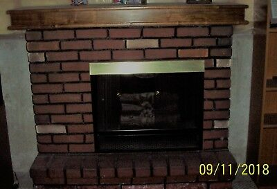 PICKUP ONLY! Faux Brick Electric Fireplace - Walnut Mantle 54