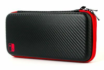 Nintendo Switch Hard Travel Carrying Bag / Case +Tempered Glass Screen Protector
