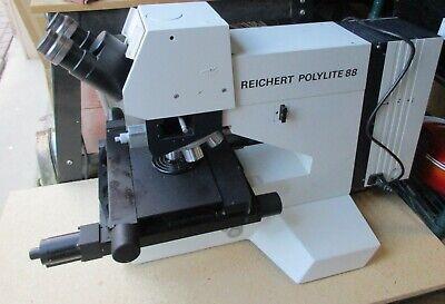 Leica Reichert Polylite 88 Nomarski Dic Metallurgical Bfdf Microscope