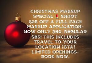 Makeup application now $25 off!