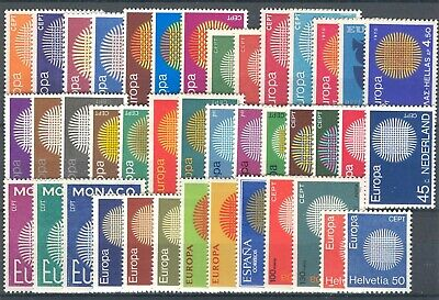 1970 EUROPA CEPT complete year set MNH