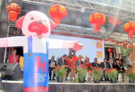THE CHINESE COMMUNITY IN MELBOURNE  ORGANIZED NEW YEAR FESTAVAL