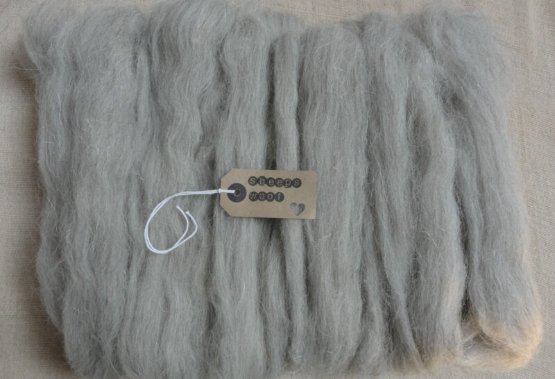 100g-needle felting wool/felting wool tops/roving/spining/weaving-(grey welsh)