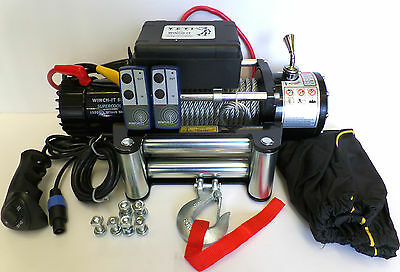 RECOVERY TRUCK WINCH 13000 lb W series 12v 58ft Rope no bunching! Winch-It