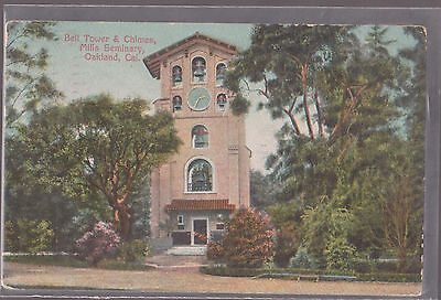 Bell Tower Chimes Mills Seminary Oakland California Stamped 1910  D14