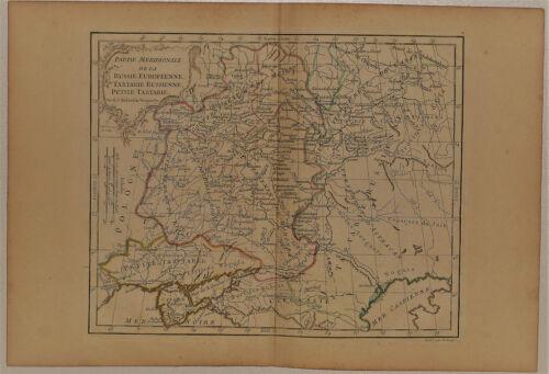 c.1780 Genuine Antique Map Western Russia. Poland to Volga River. De Vaugondy