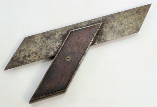"Vintage Stanley No. 16 Type 1 Improved Miter Square, Walnut Infill, 8"" Blade"