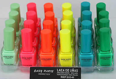 - LOT of SIX Nail polish NEON EASY PARIS Nails 2015 NEW COLECCTION
