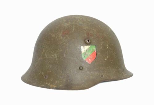 WW2 BULGARIA COMBAT STEEL HELMET M36 TYPE C WITH DECAL