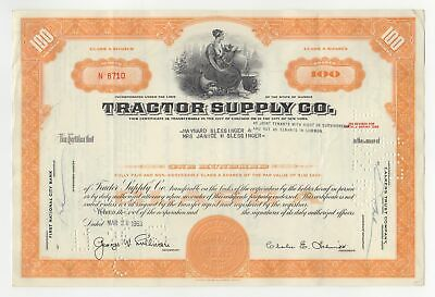 Tractor Supply Company Stock Certificate