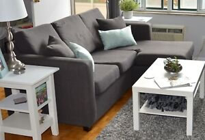 Dark grey sectional couch