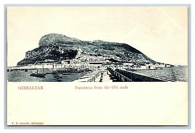 UDB postcard Gibraltar, Panorama from the Old mole, V. B. Cumbo publisher