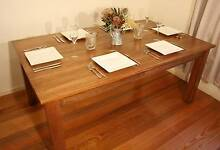 Wooden Oak Table Dinning 6 8 Seat Kitchen Country Shabby Chic Vermont Whitehorse Area Preview