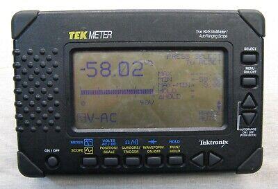 Tektronix Tek Meter True Rms Multi Meter Auto Ranging Scope Thm565 Std