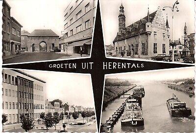Zeer mooie oude postkaart met Groeten uit HERENTHALS (PK860)