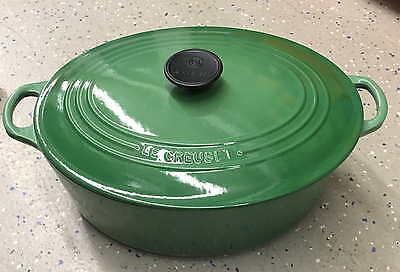 Le Creuset Cast Iron 6.75-qt. Fennel Signature Oval Dutch Oven - Green