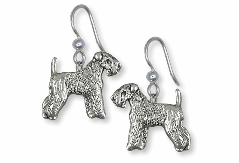 Soft Coated Wheaten Terrier Jewelry Sterling Silver Handmade Wheaten Earrings  S