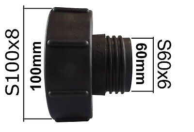 """Used, IBC Tank adapter (100MM)  S100X8 FEMALE to (2"""")  S60X6 MALE for sale  Slough"""