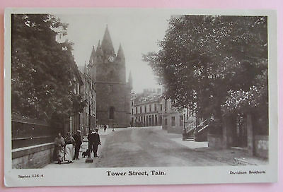 DAVIDSON RP Postcard c.1910 TOWER STREET TAIN ROSS & CROMARTY SCOTLAND