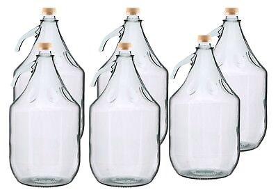 Home brew/wine making 5l demijohn,screw cap,bulk pack of 2,4,6&12,+accessories