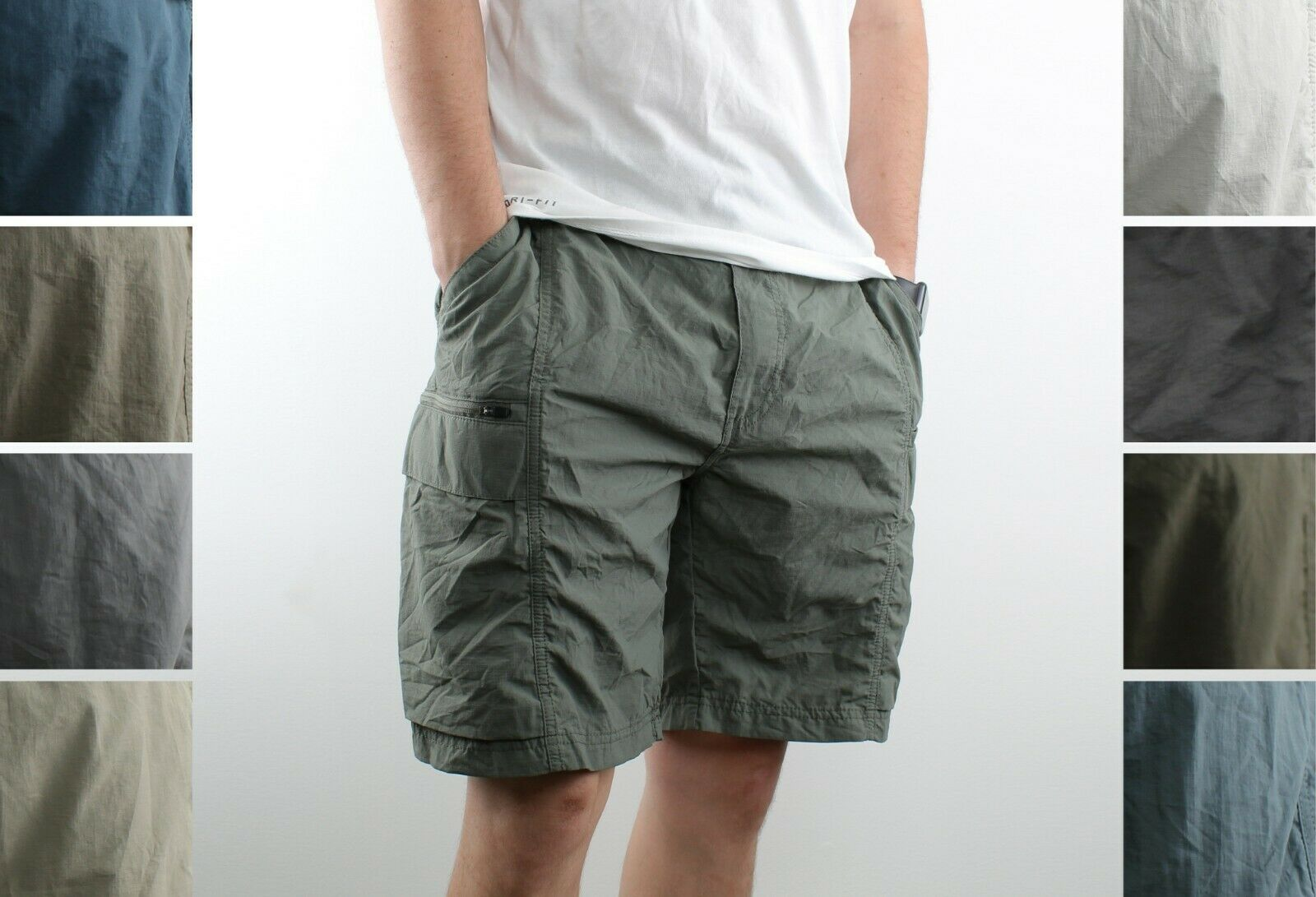 Coleman Cargo Shorts Mens Relaxed Fit Solid Lightweight Hiki