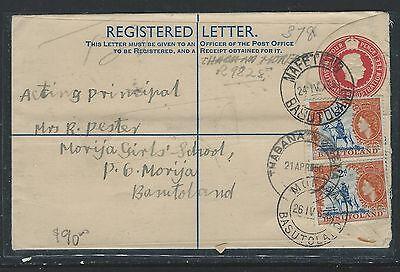BASUTOLAND (P0912B) KGVI 4D  RLE 1956  UPRATED QEII 2DX2 MAFETENG TO MORIJA