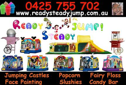 Ready Steady JUMP PACKAGE jumping Castle Face Painting $350