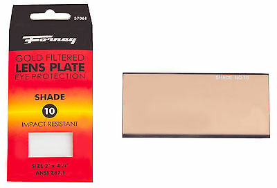 Forney 57061 Welding Filter Safety Lens Replacement Eye Protector Shade 10 Gold