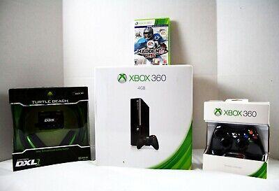 Microsoft Xbox 360 E 4GB Black Console System Bundle