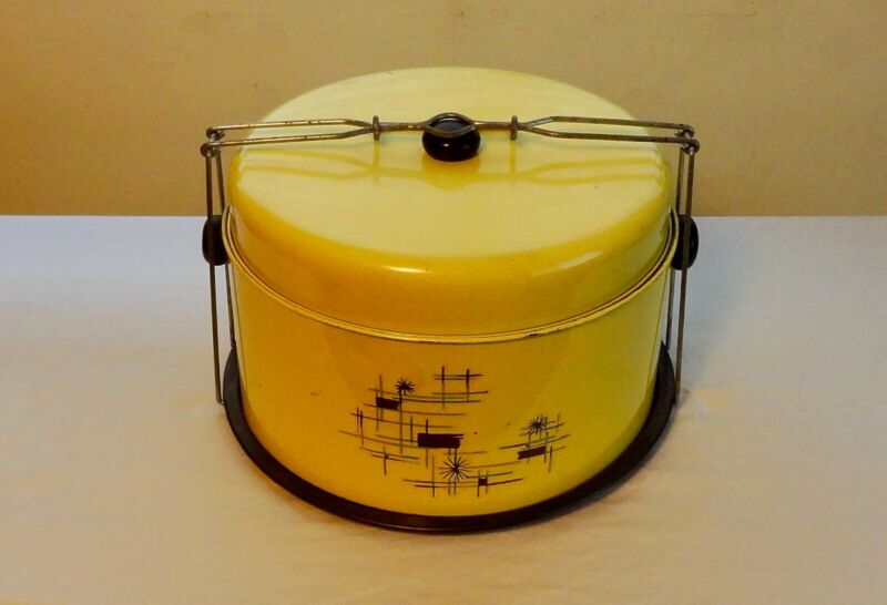 Vintage Yellow Cake and Pie Carrier – two tiered