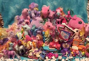 Large Lot of G3 My Little Pony Toys
