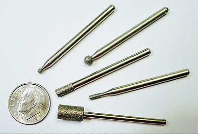 Diamond drill bit shaped tip sampler 3 pcs various shapes grits our pick T023