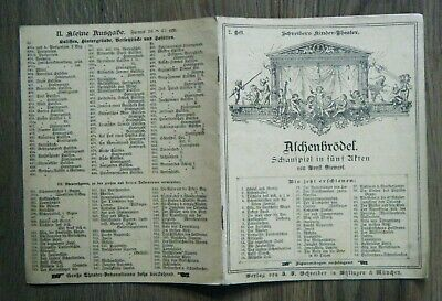 Schreibers Kinder-Theater 2. Heft Aschenbrödel Siewert Märchen Grimm um 1890