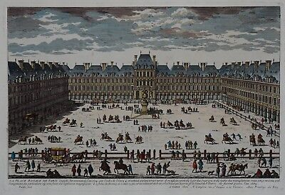 La Place Royale de Paris - Place des Vosges in Paris - Perelle / Langlois - 1700