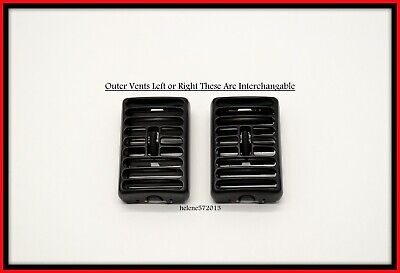97-02 Jeep Wrangler TJ OUTER Dash AIR VENTS Panel A/C Heat Vent OEM Pair GRAY